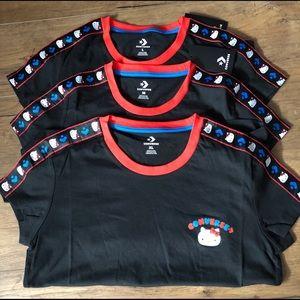 HELLO KITTY-NWT Converse Black Short Sleeve TOP!